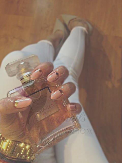 Pastelowy róż & złota naklejka
